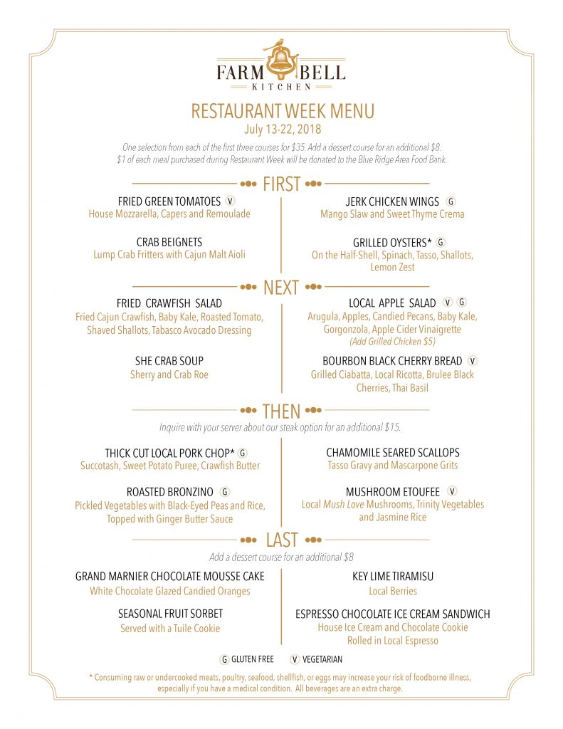 Restaurant Week | Farm Bell Kitchen